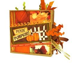 Pickin Pumpkins Scrapbook 1