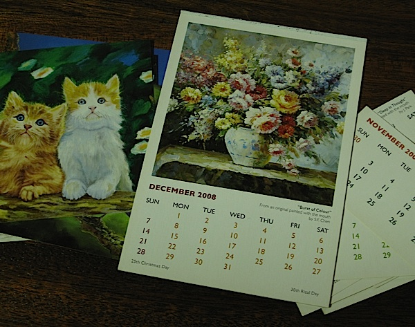 old desk calendars