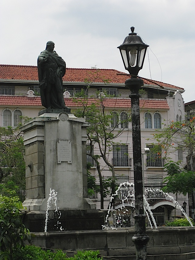 statue of King Carlos IV of Spain in Plaza Roma in Intramuros