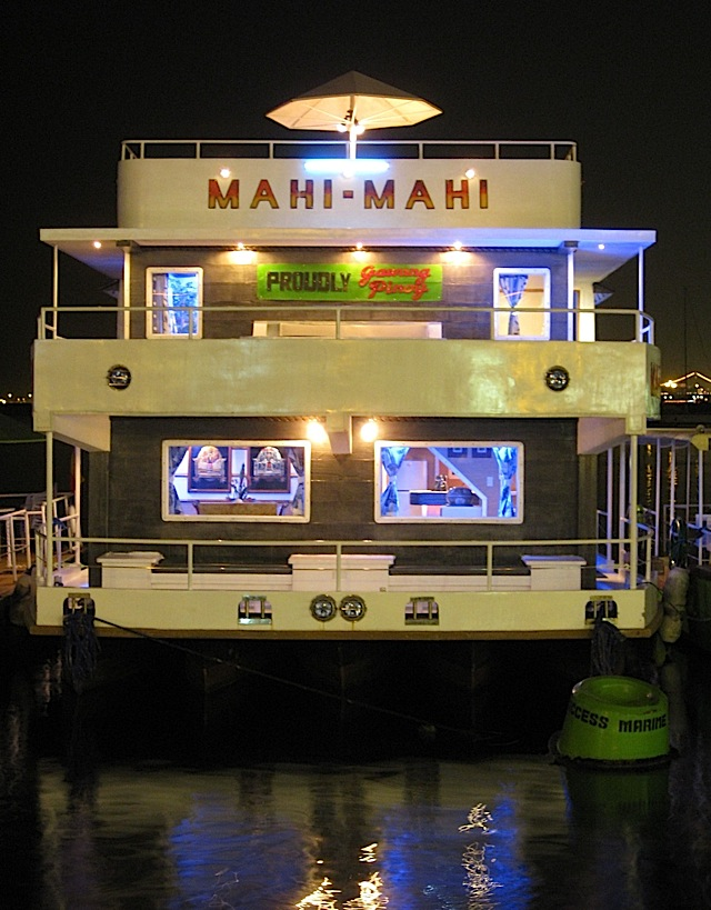 Mahi-Mahi floating restaurant