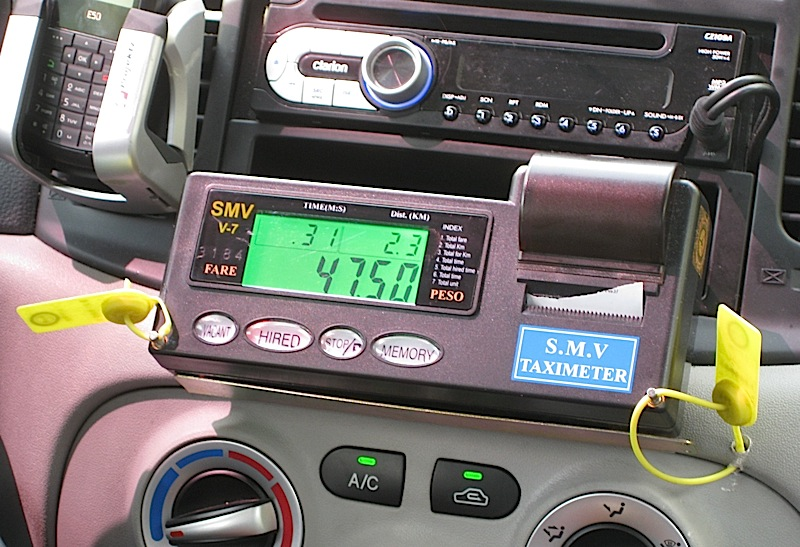 receipt-issuing taxi meter