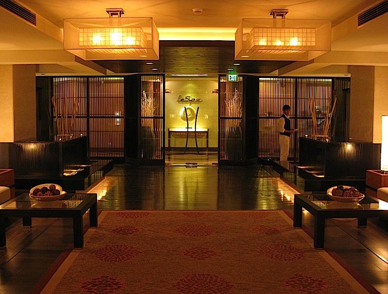 lobby of Sofitel Manila's Le Spa