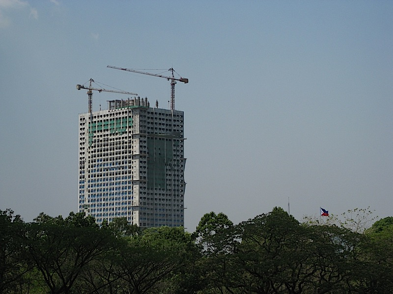 the 38-story Berkeley Residences being constructed along Katipunan Avenue