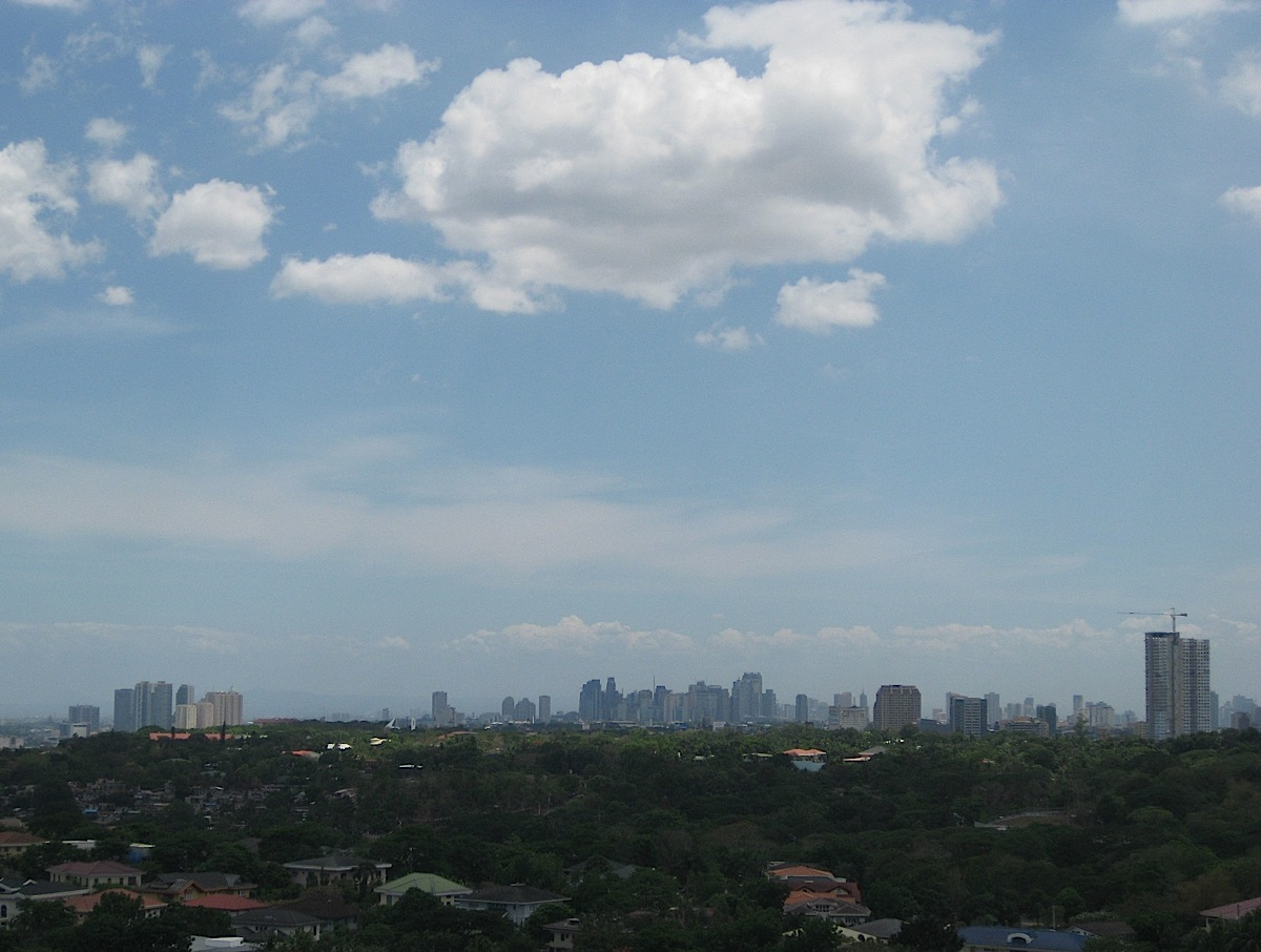 Quezon and Pasig City skyline from Capitol Hills Golf & Country Club