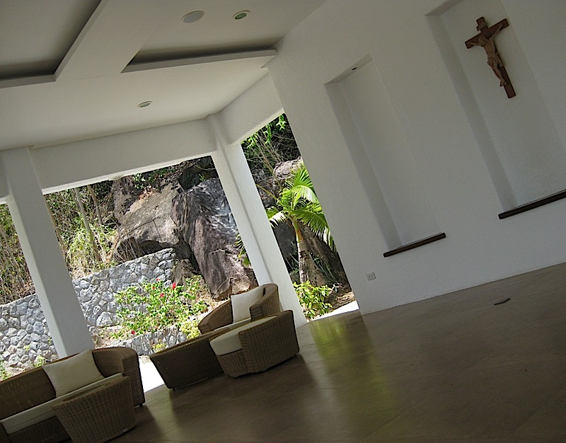 the meditation sanctuary at Bellarocca Island Resort