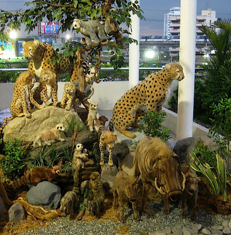 Safari Adventure exhibit in SM City North's Sky Garden