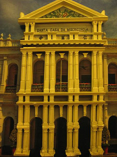 model of Macau's Santa Casa da Misericordia