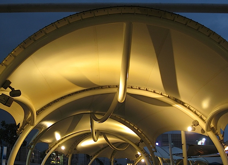 covered walkway of SM City North EDSA mall's Sky Garden