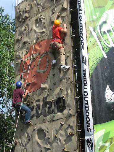 Tribu Outdoors rock-climbing wall