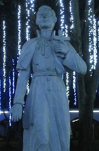 statue of St. Stanislaus Kostka at the Ateneo de Manila High School