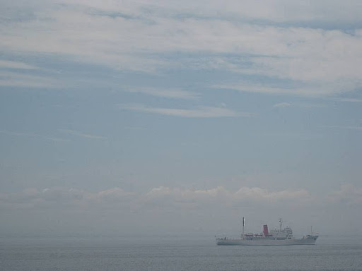 Manila Bay at noon in summer