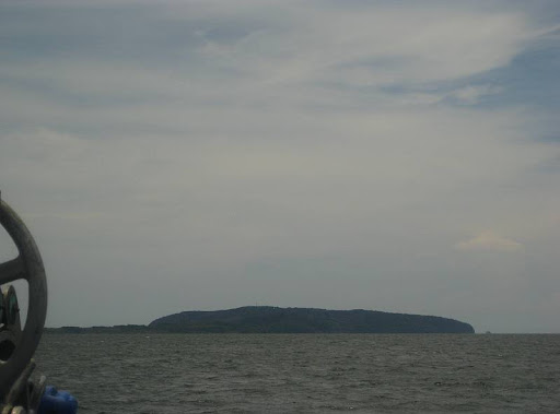 view of Corregidor Island from the ferry