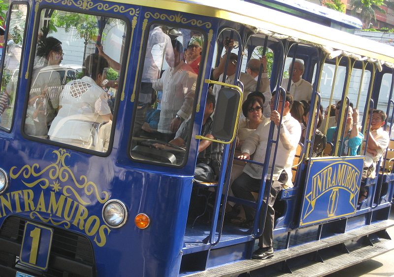 replica of a tranvia, tram, in Intramuros