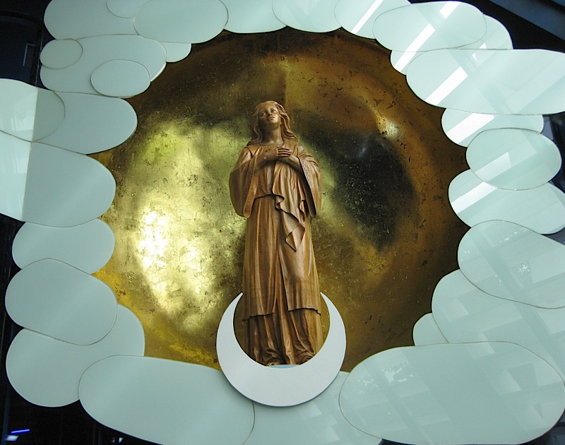 Immaculate Conception in Filipiniana dress at the side chapel of the Church of the Gesù