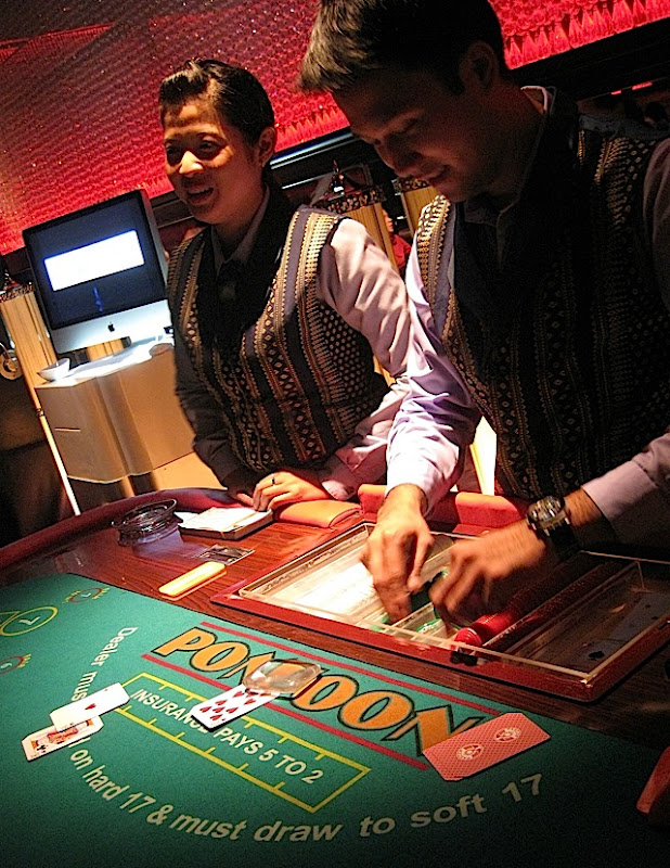 Black Jack table at 7Pecados