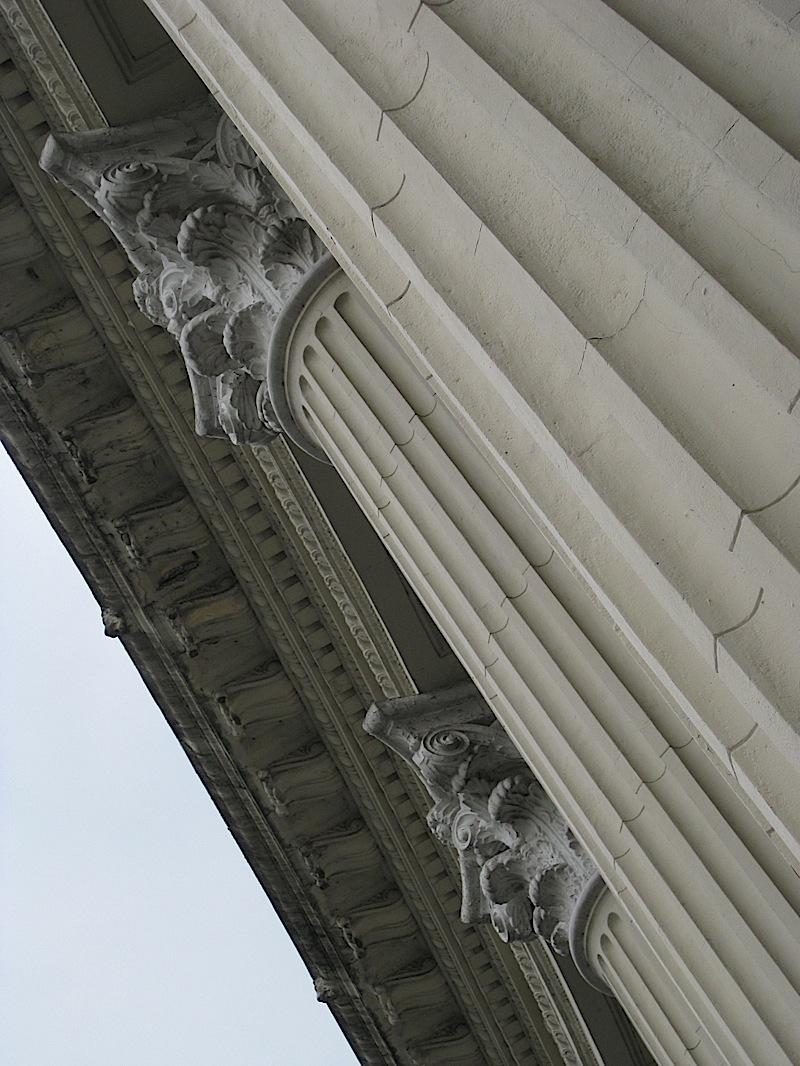 neo-classical Corinthian columns of the National Museum of the Filipino People, formerly the Finance Building