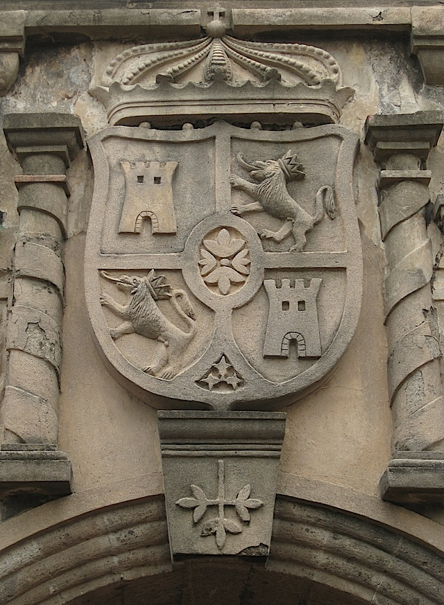 the Spanish coat of arms above the main entrance of Fort Santiago