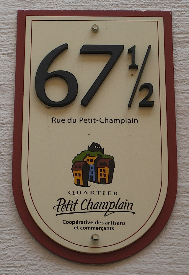 shop number 67 and 1/2 at Quartier Petit Champlain, Quebec City