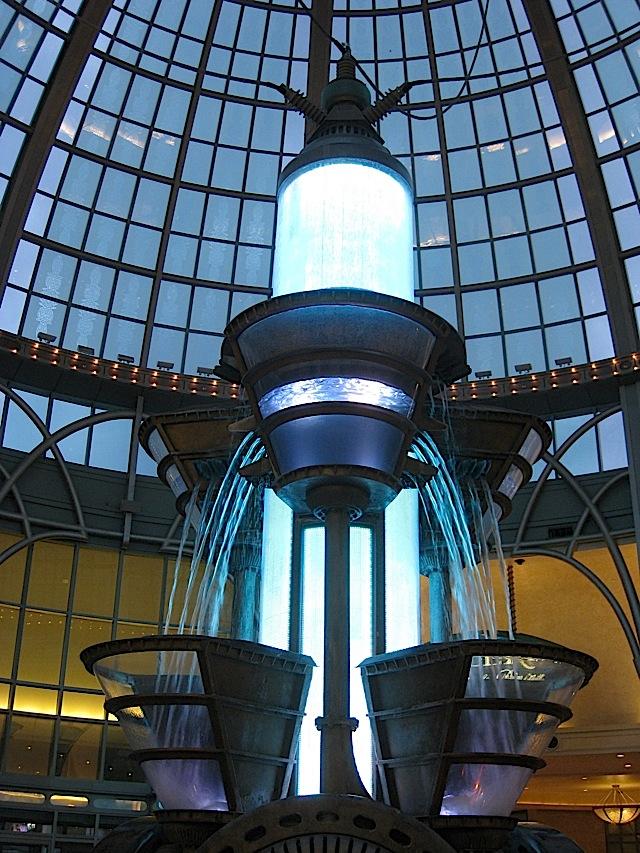 the fountain at Fallsview Casino Resort at Niagara Falls