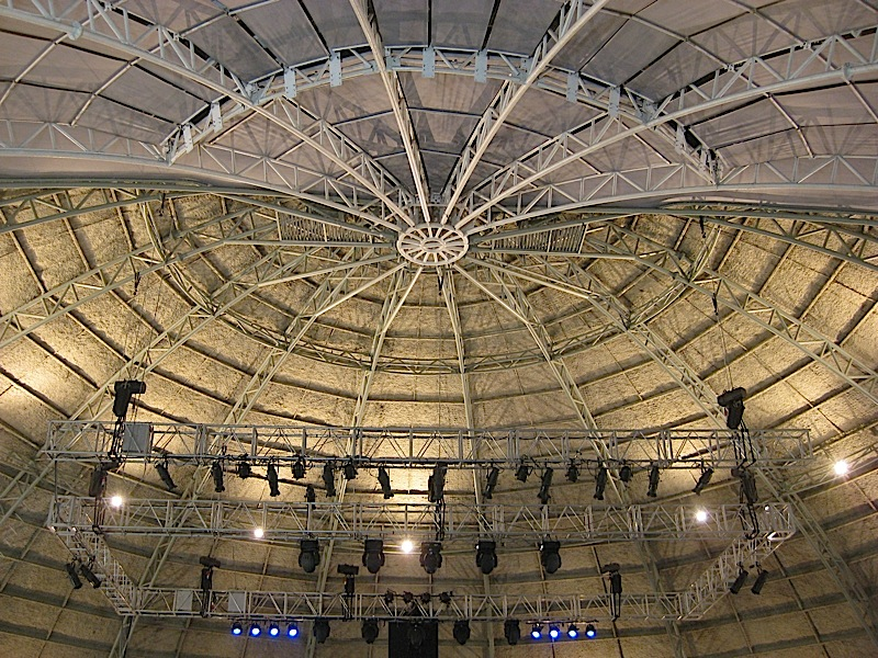 the ceiling of the Sky Dome