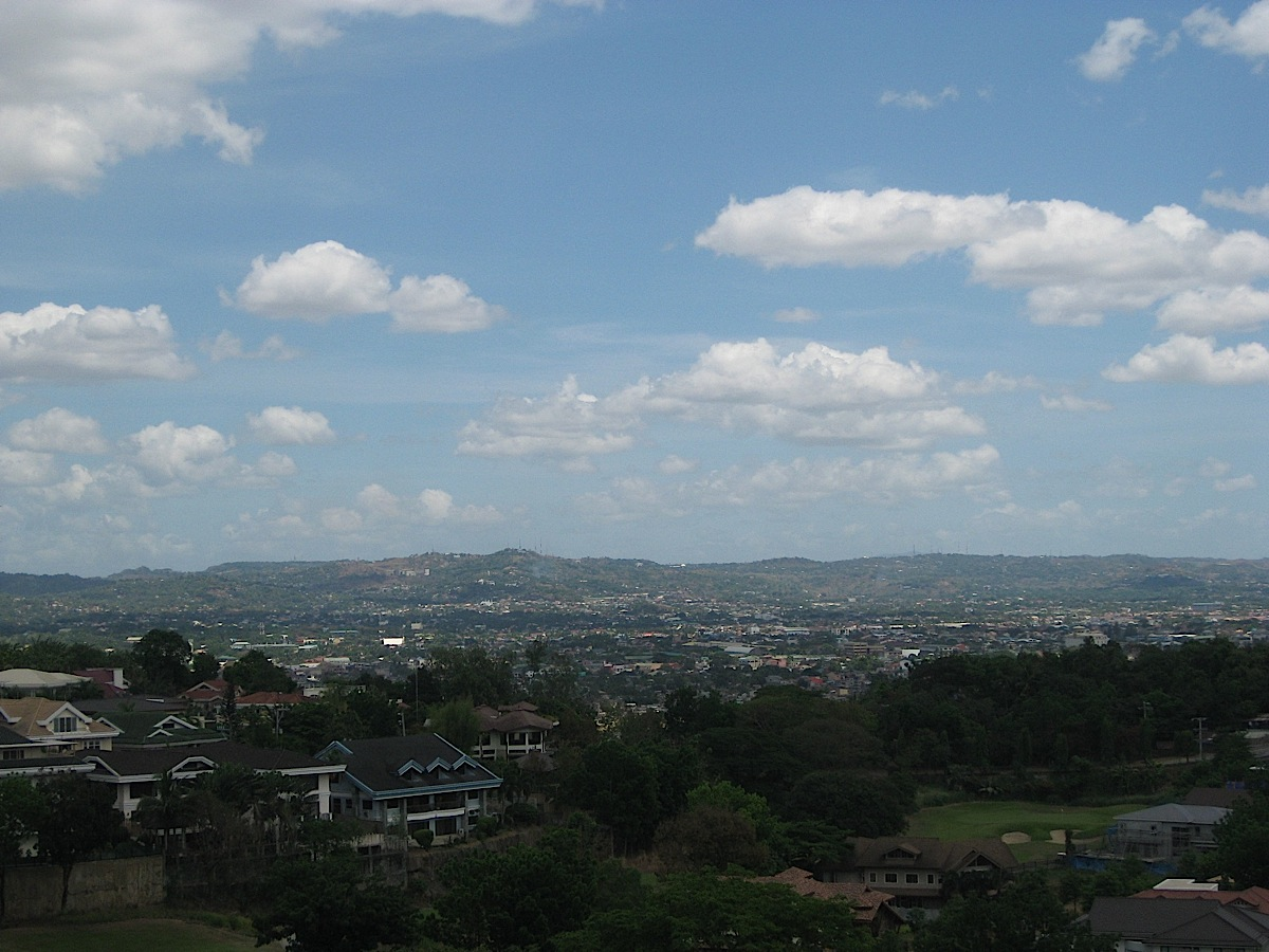 Marikina Valley seen from the Capitol HIlls Golf & Country Club