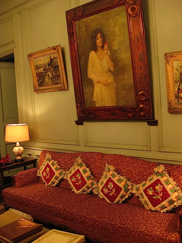 living room of La Cocina de Tita Moning, the ancestral home of the Legarda clan