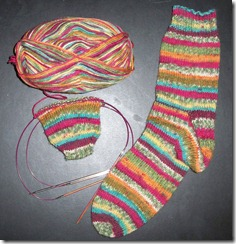 Toe Up sock - Online 1177