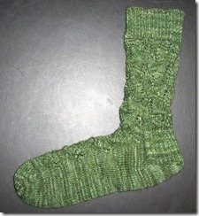 Embossed Leaves Sock