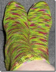 Abstract Fiber - Sweet Pea sock- complete