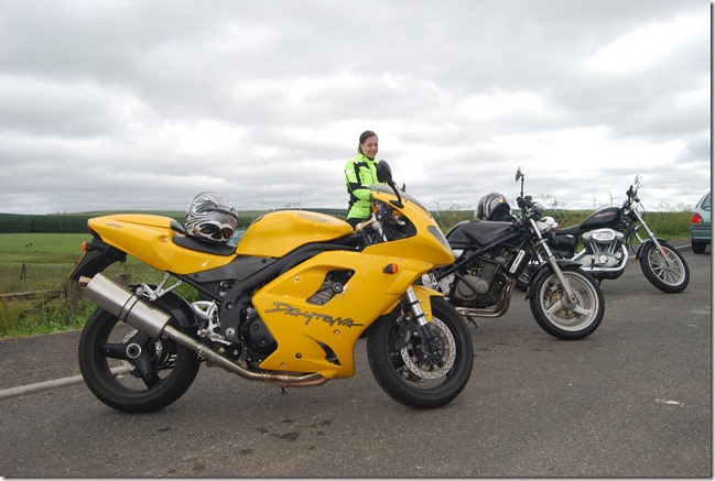 The bikes in Scotland