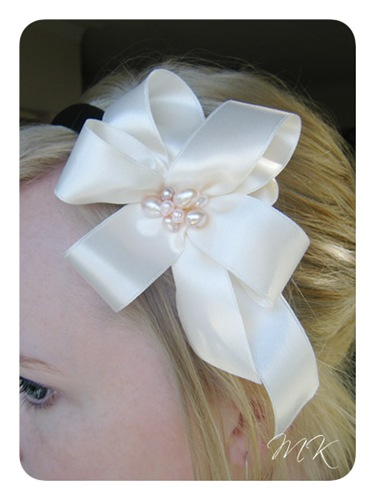 pearls headband 1