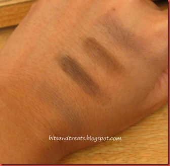 fanny serrano eyebrow powder swatches, by bitsandtreats