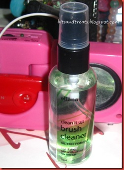 ellana clean it up brush cleaner oil-free formula, by bitsandtreats