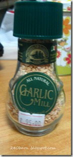 all natural garlic mill, by 240baon