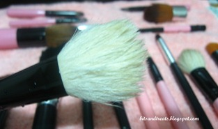 charm powder brush after washing, by bitsandtreats