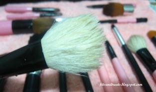 charm powder brush after washing, by bitsandtreats