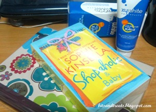 shopaholic and baby, floral notebook and xywhite toothpaste, by bitsandtreats