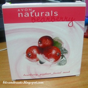 avon naturals bearberry yoghurt facial mask, by bitsandtreats