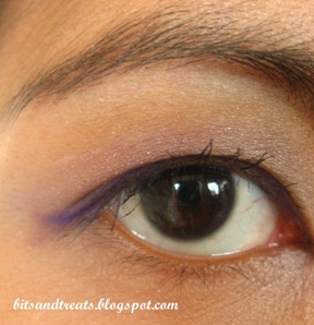 eotd purple nichido eye liner, by bitsandtreats