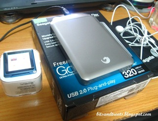 seagate external drive and ipod touch, by bitsandtreats