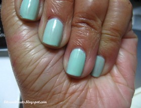 notd minty nails, by bitsandtreats