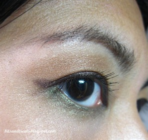 maybelline brown gel eyeliner EOTD, by bitsandtreats