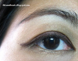 maybelline gel eyeliner and nichido stardust EOTD, by bitsandtreats