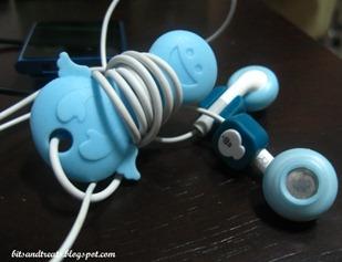 angel earphone organizer, by bitsandtreats