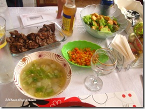 beef salpicao and pink salmon soup, by 240baon