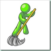 Clip Art Graphic of a Lime Green Guy Character