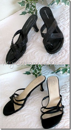 Black sandals collage