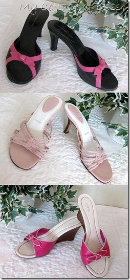 Pink heels collage