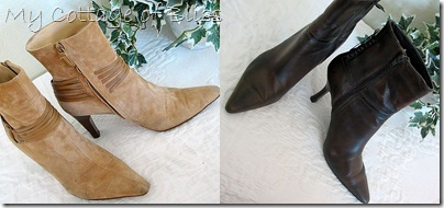 Brown boot collage