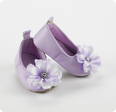 lavender baby slippers